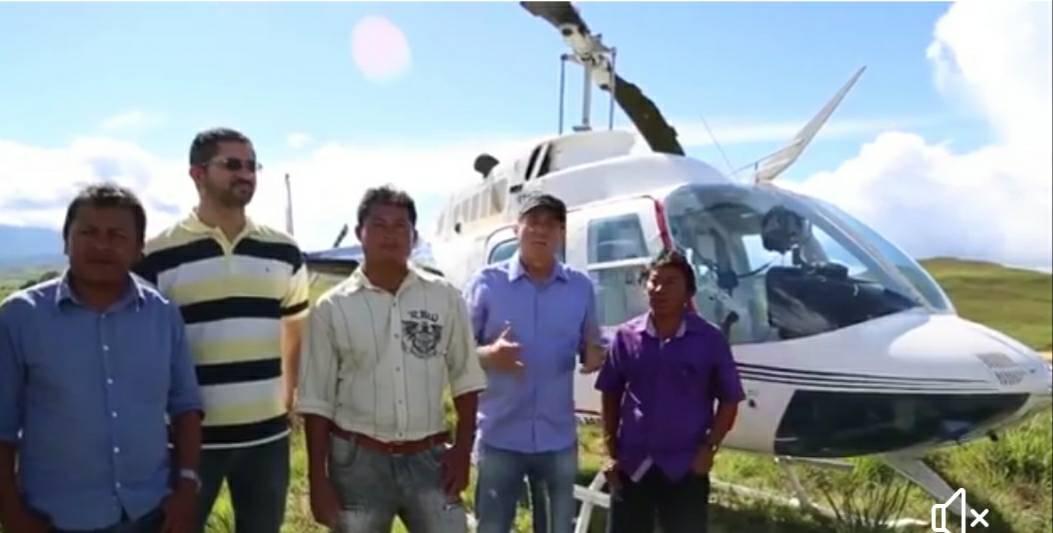 Telmario contra helicoptero para indios