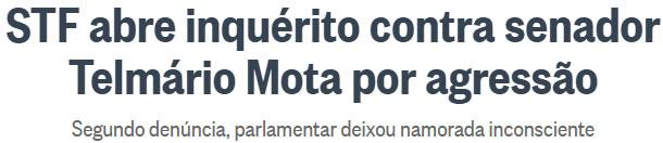 Pechas de Telm�rio voltam a ser assunto